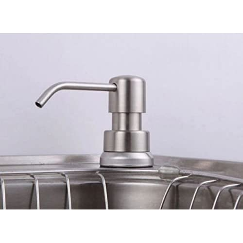 CHENGYIDA 1PC Kitchen Sink Soap Dispenser Brushed Nickel Head 300ml ABS Bottle low-cost