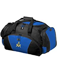 Masonic Metro Duffel Bag in Blue and Black with Multiple Pockets