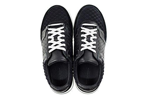 Bottega Veneta Herren Schuhe Sneakers Aus Intrecciato Leder Ayr Schwarz