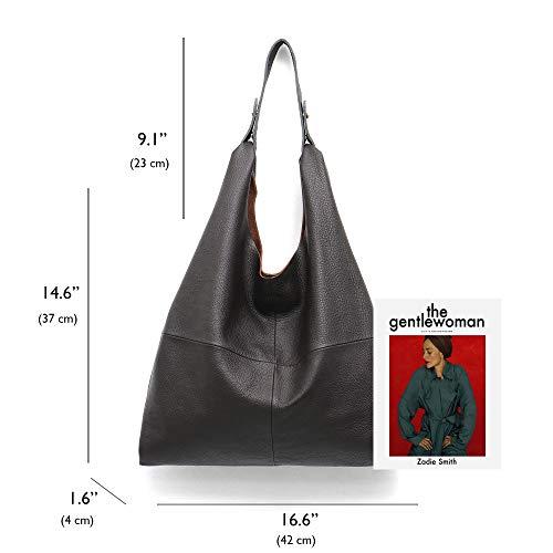 c545f32de77 Women s Handbag STEPHIECATH Genuine Leather Slouch Hobo Shoulder Bag Large  Casual Handmade Tote Vintage Snap Shopping Bags