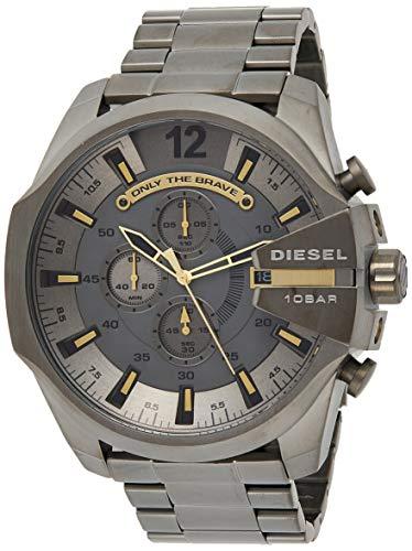 🥇 Diesel Reloj Cronógrafo para Hombre de Cuarzo con Correa en Acero Inoxidable