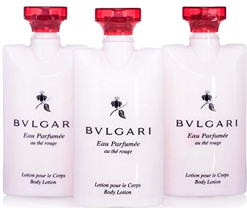Bvlgari Eau Parfumee Au the Rouge Body Lotion, 2.5 oz. Set of 3
