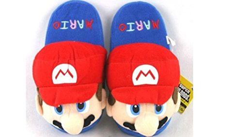 Super Mario Adult Plush Slipper - Up to 10.5