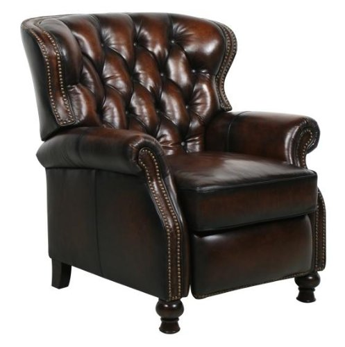 (Presidential ll Top Grain Leather Chair Manual Recliner by Barcalounger)