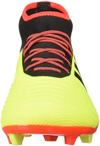 adidas Men's Predator 18.2 Firm Ground Soccer Shoe, Solar Yellow/Black/Solar Red, 11.5 M US