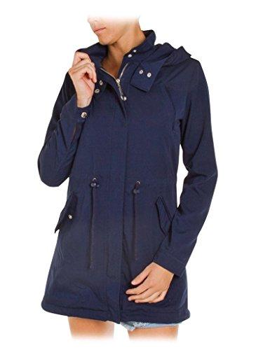 482 Femme Carrera Jeans Pour Taille Longue Manche Couleur Normale Bleu 696 Parka Unie qx6RfE