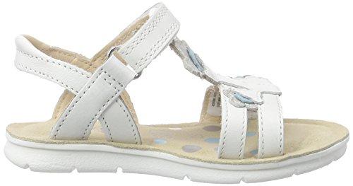Clarks Kids MimoGracie Inf - Sandalias de Tobillo Niñas Blanco (White Leather)