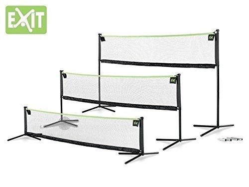 EXIT Multi-Sport Netz 3000 / Sportnetz / Breite: 300 cm / Höhe: 62/109/155 cm / Farbe: schwarz / mit Bodenankern