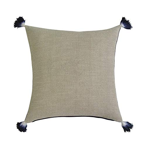 REVERSIBLE Square Pillow Cover - TAN & MIDNIGHT ()