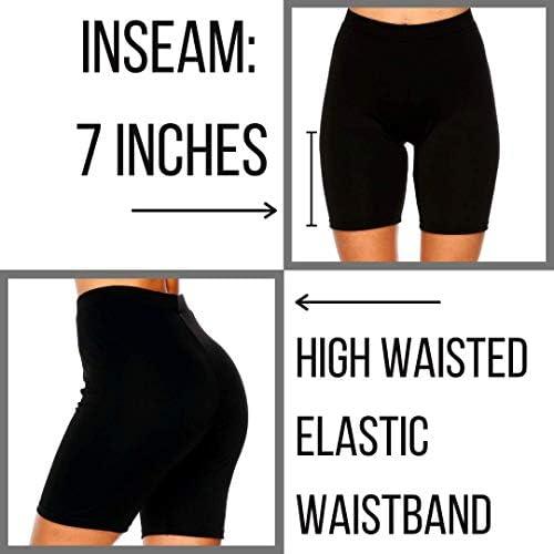 Dynec - Pantalones cortos de ciclismo para mujer, 2 unidades, color negro y gris, para descansar, ejercicio, yoga, moda 6