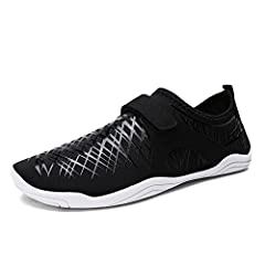 Womens Mens Velcro Lightweight Water Shoes Drain Quick Dry Breathable Beach Outdoor Home Casual Wading Shoes