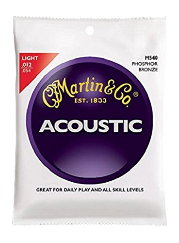 Martin M540 Phosphor Bronze Acoustic Guitar Strings, (Martin Acoustic Guitar Strings)