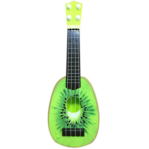 [Gotd Gift Set Children Learn Guitar Ukulele Mini Fruit Can Play Musical Instruments Toys (Green)] (70s Plastic Halloween Costumes)