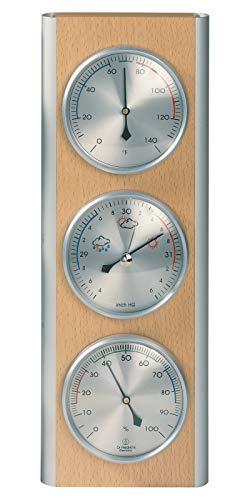 HOKCO Weather Station Barometer Thermometer Hygrometer Alumi
