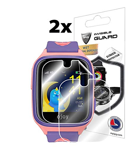 IPG for OJOY A1 Kids Smart Watch Screen Protector (2 Units) Invisible Ultra HD Clear Film Anti Scratch Skin Guard - Smooth/Self-Healing/Bubble -Free by from IPG