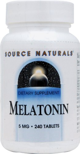 Source Naturals Melatonin 5mg, for Occasional Sleeplessness, 240 Tablets