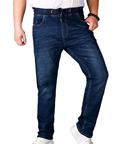 Targogo Vita Da Gamba Casual Long Vintage Pants Pantaloni Dunkelblau E Jeans Dritta Slim Denim A Uomo Stretch In Elastici Fit prxF0pnq5w