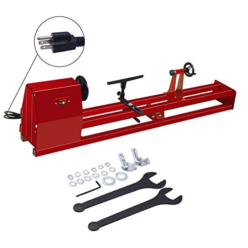 1/2 HP 4 Speed Wood Turning Lathe Machine Business & Industrial CNC, Metalworking & Manufacturing Woodworking Equipment Lathes Home Hardware Tools Shape, Engine, Motor from Lek Store