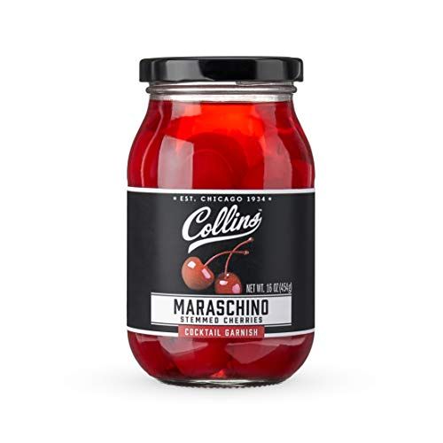 Collins Accessories Stemmed Cocktail Cherries, 16 Ounce