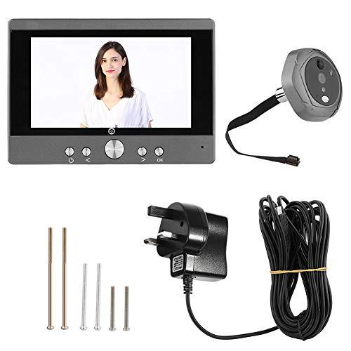 - Video Doorbell Wireless, 5 Inch WiFi Digital Intercom Doorbell Peephole Door Viewer Home Security with Night Vision, Remote Control, Two-Way Speak System(US Plug)