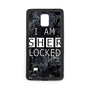 Samsung Galaxy Note 4 Cell Phone Case Black Sherlock Plastic Phone Case Cover For Women CZOIEQWMXN27779