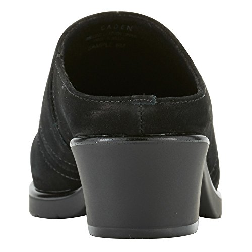 Walking Cradles Mujeres Caden Clog Black Roughout Leather
