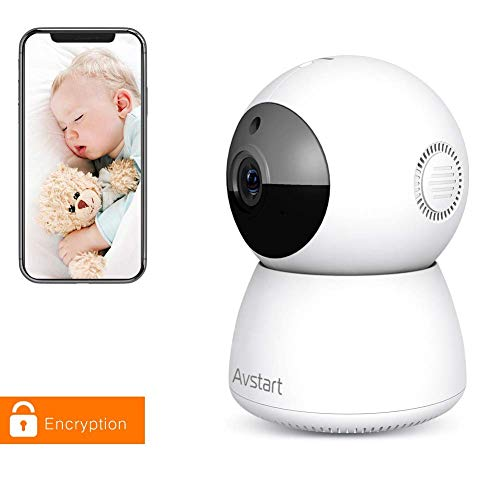 Indoor Home Security Camera 1080P, Wireless WiFi Surveillance Monitor for Office/Nanny/Pet/Baby