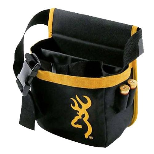 Browning Short Pure Buckmark Bag, Black/Gold