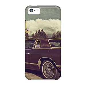 Top Quality Case Cover For Iphone 5c Case With Nice Old Car And Motel Appearance