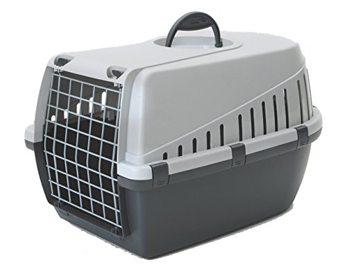 Savic NV Trotter Pet Carrier, 49 x 33 x 30 cm, Anthracite/Light Grey