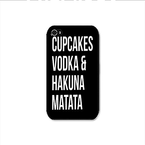 Cupcakes Vodka & Hakuna Matata iPhone 4 Case, Cupcakes Vodka & Hakuna Matata iPhone 4s Case Shipp From US