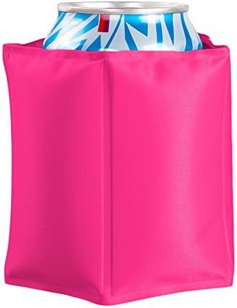 Vin Bouquet FIE 174 - Funda Enfriadora Latas Rosa, Cubierta Enfriadora Gel, Velcro Ajustable