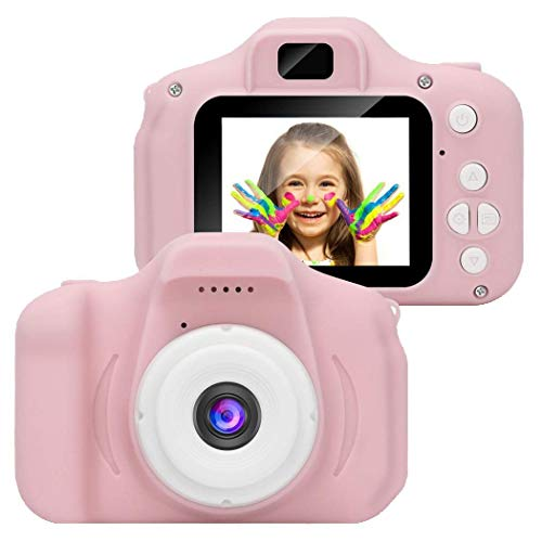 MinGe Kids Mini Digital Camera 2 Inch Screen 1280x720p Video Recorder Educational Toys for 4-12 Years Old Boys and Girls,32GB TF Card (Not Included) Digital Cameras