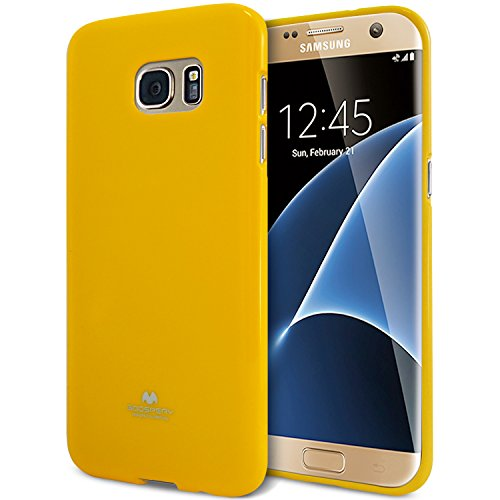 Goospery Pearl Jelly for Samsung Galaxy S7 Edge Case (2016) Slim Thin Rubber Case (Yellow) S7E-JEL-YEL