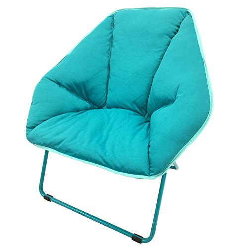 CAMPZIO HEXAGONAL LOUNGER Bungee Lounge Chair Round Bungee Chair Folding Comfortable Lightweight Portable Indoor Outdoor - Blue