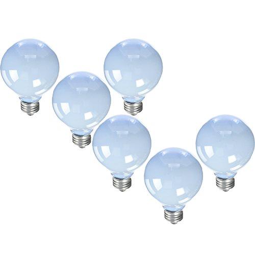 (GE Reveal Frosted 40-Watt 250 Lumens; 1.4 Year Life G25 Decorative Globe Light Bulbs (6 Bulbs))