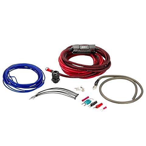 SCOSCHE EFXAKC8 8Awg Ofc Amp Power Kit; 60A Mini-Anl, Ultra-Flex Fine Strand, Ultimate Ground, Retail Double (Ofc 8 Gauge Amp Kit)