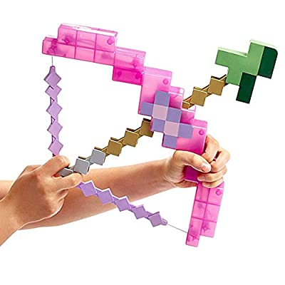 WENHSIN Toy Pixel Mosaic Bow Arrow Set Plastic Assembled Kids Birthday Party Pixel Miner Gaming not Minecraft by WENHSIN