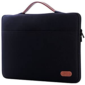 "ProCase 13-13.5 Inch Sleeve Case Cover for MacBook Pro 2018 2017 2016/ Pro with Retina/Surface Laptop 2017 /Book, Laptop Slim Bag for 13"" 13.3"" Lenovo Dell Toshiba HP ASUS Acer Chromebook -Black"