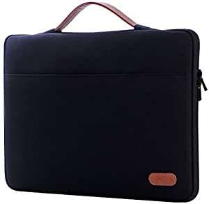 """ProCase 13-13.5 Inch Sleeve Case Cover for Macbook Pro 2016/Pro with Retina/Surface Laptop 2017/Surface Book, Laptop Slim Bag for 13"""" 13.3"""" Lenovo Dell Toshiba HP ASUS Acer Chromebook -Black"""