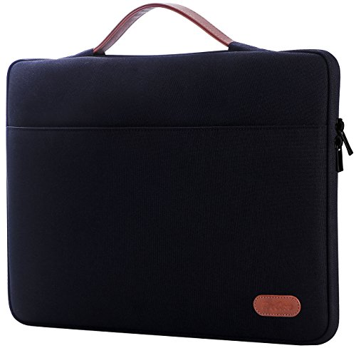 ProCase 14-15.6 Inch Laptop Sleeve Case Protective Bag, Ultrabook Notebook Carrying Case Handbag for 14' 15' 15.6' Dell Lenovo HP Asus Acer Samsung Sony Toshiba Chromebook Laptop Computers -Black