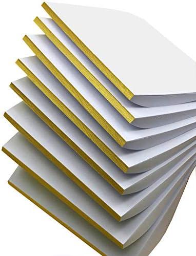 8x50 Blatt Liwute Multifunktions Notizblocks blanko - Weiß Notizblöcke - Schreibblöcke - Kratzblöcke,Qualitäts-Offset-Papier 80g/m² (26x18cm)