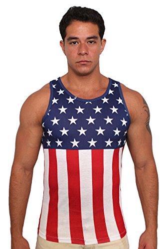 Exist USA Flag Men's Tank Top: MEDIUM]()