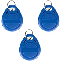 UHPPOTE 125Khz Writable EM4305 Contactless Keyfobs Token Tag For RFID Copier ( Color Blue pack of 100 )