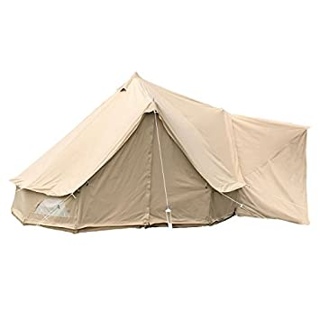 Glawning 5M Bell Tent Awning Fireproof Cotton Canvas (Comes With Heavy Duty Metal Pegs And  sc 1 st  Amazon UK & Glawning 5M Bell Tent Awning Fireproof Cotton Canvas (Comes With ...