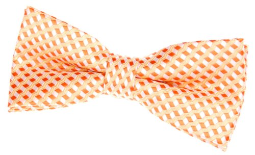 Retreez Wavy Zig Zag Stripe Pattern Woven Pre-tied Bow Tie (4.5