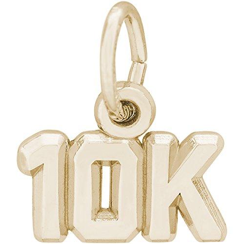 10k Race Charm - Rembrandt Charms 10K Yellow Gold 10K Race Charm (5.5 x 11 mm)