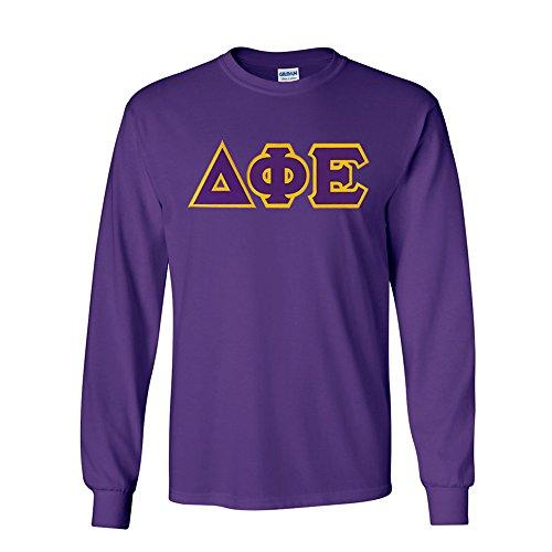 Greekgear Delta Phi Epsilon Lettered Long Sleeve Tee X-Large Purple