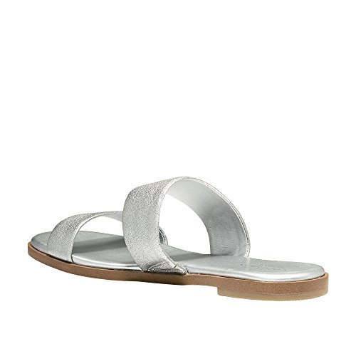 Cole Haan Womens Findra II Flat Sandal Silver Leather lcv7ChH