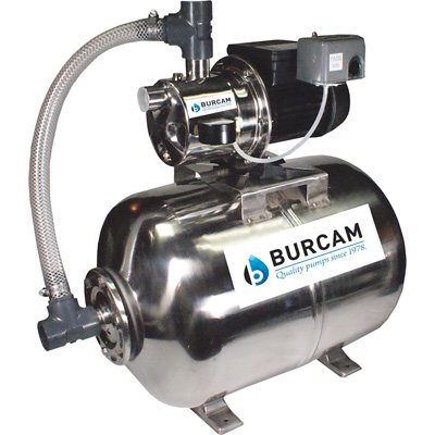 BurCam 506538SS SW Stainless Steel Jet Pump & Tank, Ml60H 3/4 hp, 115V/230V